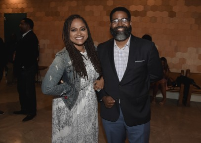 "LOS ANGELES, CA - AUGUST 16: Ava Duvernay and moderator Jamil Smith at the Ava Duvernay Hosted Special Screening of the Blumhouse film ""Don't Let Go"" at the Amanda Theater at Array Creative Campus on August 16, 2019 in Los Angeles, California. (Photo by Scott Kirkland/Blumhouse/PictureGroup)"