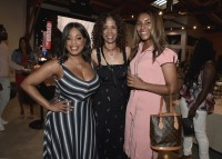 "LOS ANGELES, CA - AUGUST 16: Niecy Nash, Sondra Spriggs and daughter at the Ava Duvernay Hosted Special Screening of the Blumhouse film ""Don't Let Go"" at the Amanda Theater at Array Creative Campus on August 16, 2019 in Los Angeles, California. (Photo by Scott Kirkland/Blumhouse/PictureGroup)"