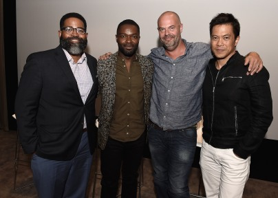 "LOS ANGELES, CA - AUGUST 16: Jamil Smith, David Oyelowo, Jacob Estes and Byron Mann at the Ava Duvernay Hosted Special Screening of the Blumhouse film ""Don't Let Go"" at the Amanda Theater at Array Creative Campus on August 16, 2019 in Los Angeles, California. (Photo by Scott Kirkland/Blumhouse/PictureGroup)"
