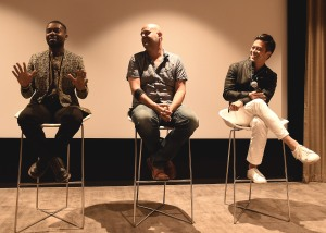 "LOS ANGELES, CA - AUGUST 16: David Oyelowo, Jacob Estes and Byron Mann at the Ava Duvernay Hosted Special Screening of the Blumhouse film ""Don't Let Go"" at the Amanda Theater at Array Creative Campus on August 16, 2019 in Los Angeles, California. (Photo by Scott Kirkland/Blumhouse/PictureGroup)"