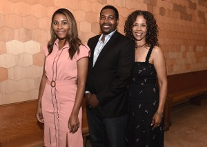 "LOS ANGELES, CA - AUGUST 16: Mykelti Williamson, wife Sondra Spriggs and daughter at the Ava Duvernay Hosted Special Screening of the Blumhouse film ""Don't Let Go"" at the Amanda Theater at Array Creative Campus on August 16, 2019 in Los Angeles, California. (Photo by Scott Kirkland/Blumhouse/PictureGroup)"